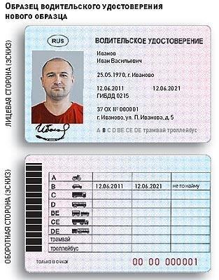 водительское удостоверение российского образца - фото 4