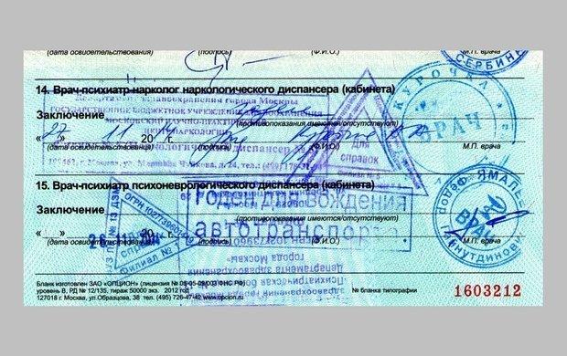 Медицинская справка водительские права где получить в Щелково
