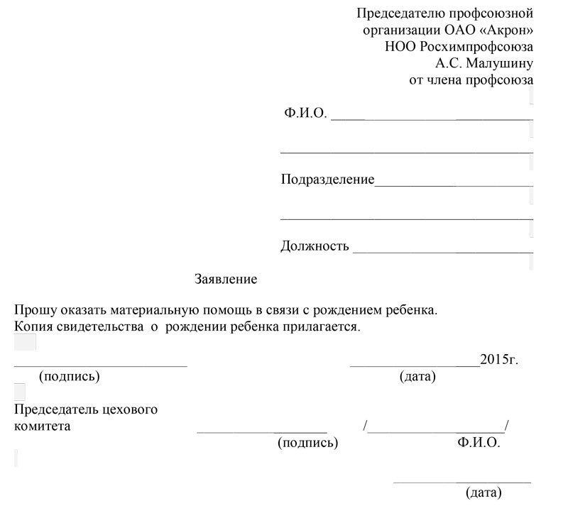 заявление на материальную помощь 2016 бланк образец заполнения - фото 4